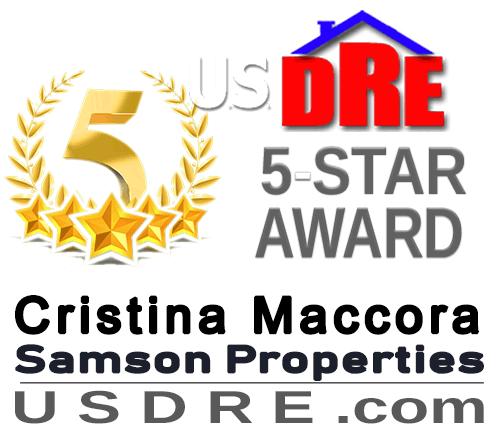 Cristina Maccora 5-Star Real Estate Award