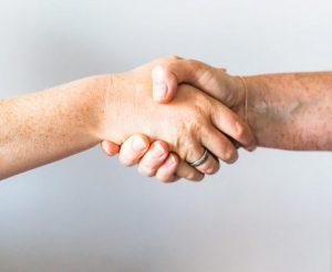 Home seller handshake